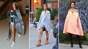 Rihanna et le poncho